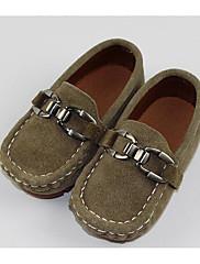 Para Meninas sapatos Pele Nobuck Outono Inverno Conforto Primeiros Passos Mocassins e Slip-Ons Para Casual Preto Azul Escuro Khaki