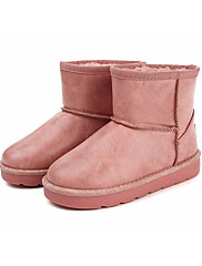 Para Meninas sapatos Micofibra Sintética PU Inverno Botas de Neve Botas Botas Curtas / Ankle Para Casual Branco Preto Marron Rosa claro