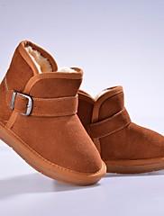 女の子 靴 スエード 冬 スノーブーツ ブーツ ブーティー/アンクルブーツ 用途 カジュアル ブラック フクシャ Brown キャメル