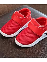 Para Meninas sapatos Malha Respirável Outono Inverno Conforto Tênis Para Casual Branco Preto Vermelho