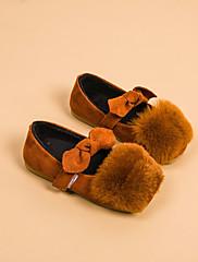 Para Meninas sapatos Courino Outono Inverno Conforto Mocassins e Slip-Ons Para Casual Marron Vermelho Verde Rosa claro