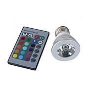 E26/E27 Lâmpadas de Foco de LED MR16 1 LED de Alta Potência 150 lm RGB K Controle Remoto AC 100-240 V