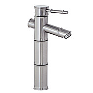 cheap Nickel Brushed Series-Art Deco/Retro Centerset Ceramic Valve One Hole Single Handle One Hole Nickel Brushed, Bathroom Sink Faucet