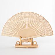 Santalové dřevo Fanoušci a slunečníky-# Piece / Set Ruční ventilátor Zahradní motiv Klasický motiv Žlutá21 cm na výšku × 37 cm na šířku