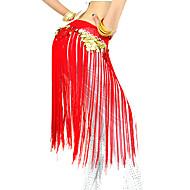 Danza del Vientre Cinturón Mujer Rendimiento Poliéster Borla Bufanda Hip y cinta de Danza del vientre no incluidas. / Desempeño