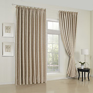 To paneler Window Treatment Neoklassisk , Solid Stue Rayon Materiale gardiner gardiner Hjem Dekor For Vindu