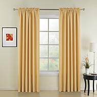 billige Gardiner-ny stil gule solid polyester gardiner gardiner