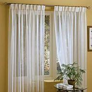 baratos Cortinas Transparentes-Dois Painéis Tratamento janela Moderno , Sólido Linho/Mistura de Algodão Material Sheer Curtains Shades Decoração para casa For Janela