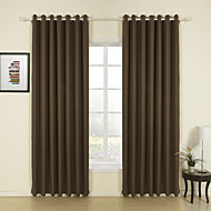 billige Gardiner ogdraperinger-To paneler Window Treatment Moderne Ensfarget Stue Lin Materiale gardiner gardiner Hjem Dekor