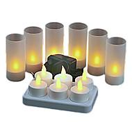 6stk LED-stearinlyspærer LED Perler Højeffekts-LED Dekorativ