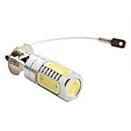billige -H3 7.5W 600LM 7000-8000K White Light High-Power LED Pære til autolamper (DC 12V)