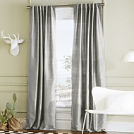 To paneler Window Treatment Moderne , Solid Polyester Materiale gardiner gardiner Hjem Dekor For Vindu