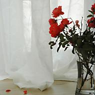 preiswerte Luxuriös-Schlaufen für Gardinenstange Ösen Schlaufen Zweifach gefaltet zwei Panele Window Treatment Modern , Jacquard Solide Esszimmer 100%
