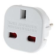 billige Lampesokler og kontakter-EU Plug til flere Plug Universal Round Travel Adapter med Safety Shutter (110-240V)