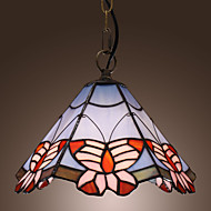 billige Takbelysning og vifter-tiffany anheng lys med sommerfugl mønster