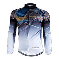 Nuckily Men's Long Sleeve Cycling Jersey Stripes Bike Jersey Top Thermal / Warm Breathable Sports Winter 100% Polyester Fleece Mountain Bike MTB Road Bike Cycling Clothing Apparel