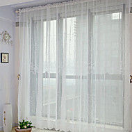 baratos Cortinas Transparentes-Sheer Curtains Shades Quarto Poliéster Bordado