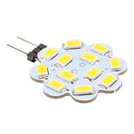 billige Spotlys med LED-1W 100-150lm G4 LED-lamper med G-sokkel 12 LED perler SMD 5630 Varm hvit 12V