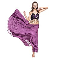 cheap Sale-Belly Dance Skirt Women's Performance Linen Ruffles Dropped Skirt