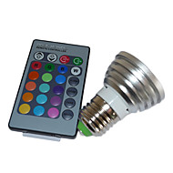 billige Globepærer med LED-5W multi-farge LED pære med fjernkontroll (4 pakker)