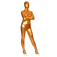 Ternos Zentai Brilhantes Ninja Fantasia Zentai Fantasias de Cosplay Dourado Sólido Collant/Pijama Macacão Fantasia Zentai Elastano