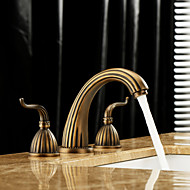 cheap Sprinkle® Faucets-Bathroom Sink Faucet - Widespread Antique Brass Widespread Three Holes / Two Handles Three HolesBath Taps