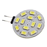 billige Spotlys med LED-1.5 W 150-200 lm G4 LED-spotpærer 12 LED perler SMD 5730 Naturlig hvit 12 V / #