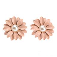 Dame Perle Lyserød Stangøreringe - Perle Blomst, Daisy Sød Stil Lys pink Til Daglig