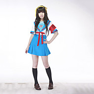 """Inspirert av Suzumiya Haruhi Haruhi Suzumiya Anime  """"Cosplay-kostymer"""" Cosplay Klær / Skoleuniformer Lapper Kortermet Topp / Skjørte / Belte Til Dame"""