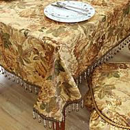 Traditionele Polyester Khaki Print Bloemen Tafelkleden