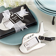 Destination Love Chrome Luggage Tag
