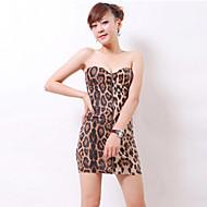 Žene Bodycon Haljina - Otvorena leđa, Leopard