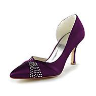 お買い得  靴-ラインストーンの結婚式の靴とファッションサテンスティレットヒールパンプス(その他の色)