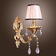 billige Krystall Vegglys-Traditionel / Klassisk Vegglamper Til Metall Vegglampe 110-120V 220-240V Max 60WW