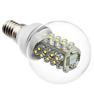 tanie Więcej Kupujesz, Więcej Oszczędzasz-1 szt. 2 W 100-130 lm E14 Żarówki LED kulki G45 32 Koraliki LED Dip LED Dekoracyjna Biały 220-240 V / ROHS