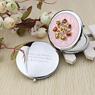 personalizované sladké květiny chrom kompaktní zrcadlo příznivce svatební laskavosti