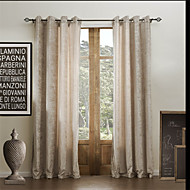 billige Gardiner-To paneler Window Treatment Moderne , Solid Rayon Materiale gardiner gardiner Hjem Dekor For Vindu