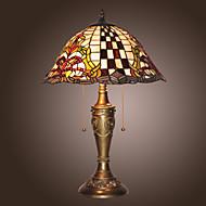 billige Lamper-Tiffany jern bordlamper med 2 lys-electroplate overflate
