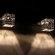 tanie Oświetlenie lustra-Nowoczesny / współczesny Oświetlenie łazienkowe Metal Światło ścienne IP20 110-120V / 220-240V 1 W / LED zintegrowany
