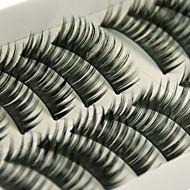 Gene Geană Geană Gros Lungime Naturală Mărește Capătul Ochiului Extins Volum Mărit Natural Buclat Gros Confecționat Manual Fibră