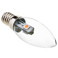 billige Stearinlyslamper med LED-0.5W 15-30lm E14 LED-lysestakepærer C35 3 LED perler SMD 5050 Dekorativ Varm hvit 220-240V