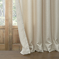 billige Mørkleggingsgardiner-Window Treatment Moderne , Solid Stue Poly/ Bomull Blanding Materiale Blackout Gardiner Hjem Dekor For Vindu
