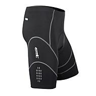 preiswerte SANTIC®-SANTIC Herrn Gepolsterte Fahrradshorts - Schwarz Fahhrad Shorts/Laufshorts Gepolsterte Shorts, Rasche Trocknung, Atmungsaktiv, 3D Pad