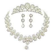 ieftine Bijuterii de Banchet-Pentru femei Imitație de Perle Ștras Nuntă Petrecere Ocazie specială Zi de Naștere Logodnă Aliaj Σκουλαρίκια Coliere Tiare