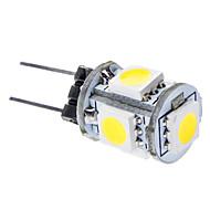 billige Kornpærer med LED-daiwl g4 1w 6000-6500k 65-75lm 5x5050smd naturlig hvitt lys ledet bil lamper (dc 12v)