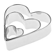 În formă de inimă din oțel inoxidabil Cookie Set cuțite (3-Pack)