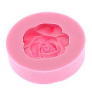 1pc 3d em forma de rosa bolo de molho de silicano moldagem de cozinha silico