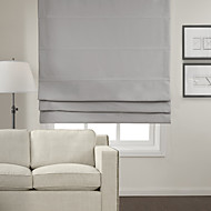 cheap Blinds & Shades-Blackout 100% Polyester Roman Shade
