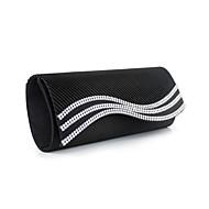 Damen Taschen Seide Abendtasche Crystal / Strass für Veranstaltung / Fest Weiß Schwarz Rot Blau Mandelfarben