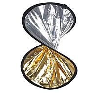 2 in1の銀ゴールデンディスク折りたたみリフレクター60センチメートル